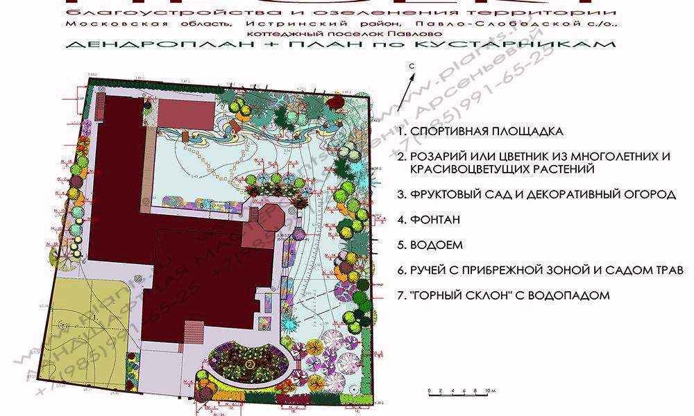 Готовые проекты ландшафтного дизайна участка 10 соток 147